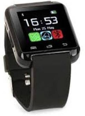 Divine U8 Black Smartwatch (Black Strap)