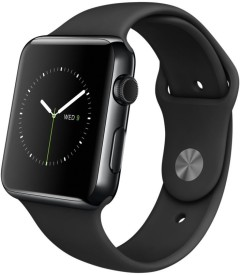 Apple Watch Space Black Stainless Steel Case with Black Sport Band 42 mm