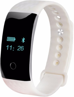 Maya Heart Rate Monitor White Smartwatch (White Strap)