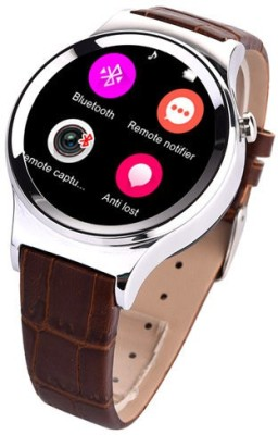 Epresent T3 Circular Smartwatch Brown Smartwatch (Brown Strap)