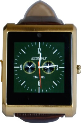 RDWorld W3 silver Smartwatch (Brown Strap L)