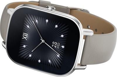 Asus ZenWatch 2 Silver Case with Leather Strap Khaki Smartwatch (1.45 inch, Khaki)