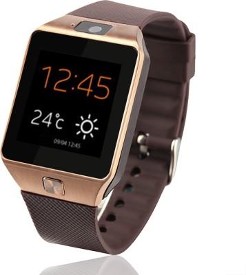 VibeX ® DZ-09 Bluetooth GSM-SIM Card Sport Camera Black, Gold, Silver Smartwatch (Gold Strap Free Size)