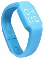 Flipfit Fitness BanD 3D PeDometer Sleep Temperature Calorie Monitor Time Display Silicon Without SpeeDometer Smartwatch (Blue)