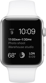 Apple Watch Sport Silver Aluminium case white sport Band 42mm