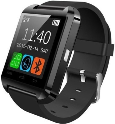 KOKO U8 Black Smartwatch (Black Strap)