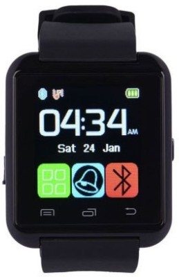 Easo India U8 Black Smartwatch (Black Strap)