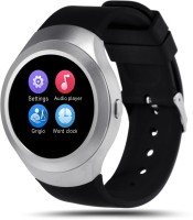 Bingo C5 Silver Absolute Screen Touch With Bluetooth And SIM Enabling Feature Smartwatch (Black Strap)