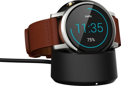 Motorola Moto 360 2nd Gen (42 mm) for Men Cognac Leather Smartwatch (Brown Strap S)