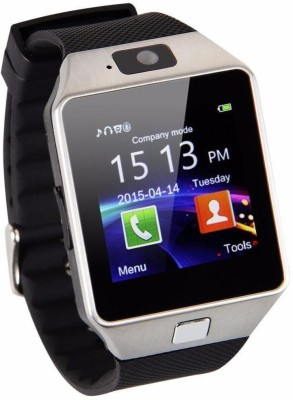 Smart Indie DZ09 Black Smartwatch (Black Strap Free Size)