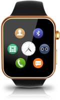 Aja Retail A9 Heart-Rate Monitor Bluetooth Android & IOS Golden Smartwatch (Gold Strap)