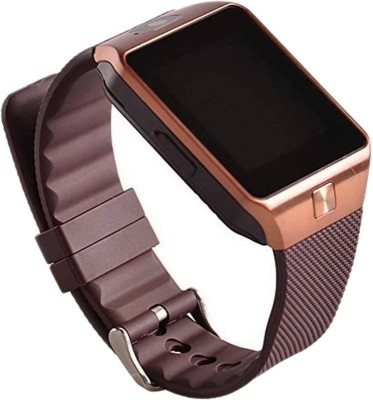 Mediacom Multimedia Smart Mobile Watch with sim, Bluetooth, Fitness Tracker, Spy Cam and Anti theft Alarm Brown Smartwatch (Brown Strap Free Size)