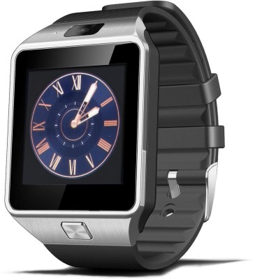 Influx ® DZ09 Bluetooth Sports GSM SIM Silver Smartwatch (Black Strap Free)
