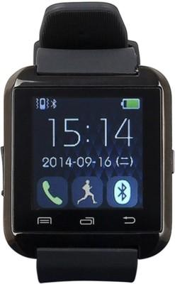 PhonoHolic U8 Black Smartwatch (Black Strap)