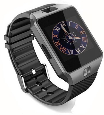 VibeX ® DZ-09 Bluetooth Mobile GSM-SIM Card & Camera Black, Gold, Silver Smartwatch (Black Strap Free Size)