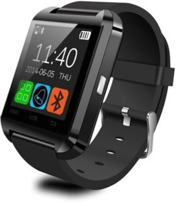 K Plus U98 Smartwatch (Black, White Strap)