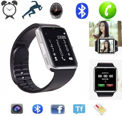 Noise GT 08� Silver-Black Smartwatch (Black Strap)