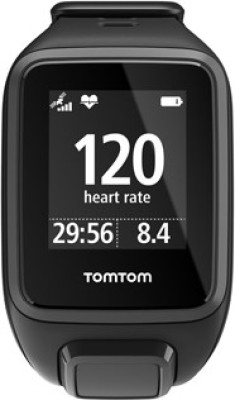 TomTom Spark Cardio Black Smartwatch ((Black, Small))