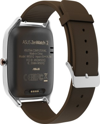 Asus ZenWatch 2 Silver Case with Rubber Strap Sliver/rubber taupe Smartwatch (1.63 inch, Taupe)
