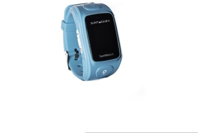 Santwissen SantWatch-Kids wearable GPS tracker phone Blue Smartwatch (Blue Strap Free Size)