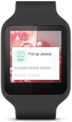 Sony SWR50 Black Smartwatch (Black Strap)