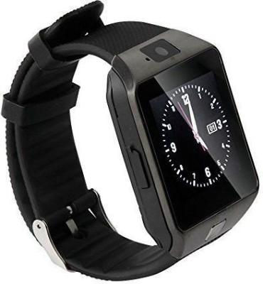 Celestech WS04 with SIM, 32 GB Memory Card Slot, Bluetooth and Fitness Tracker Gunmetal Grey Smartwatch (Black Strap)
