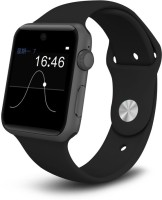Bingo T50S Deep Black HD Screen With Voice Control Supports Bluetooth, Android & IOS System Smartwatch (Black Strap)