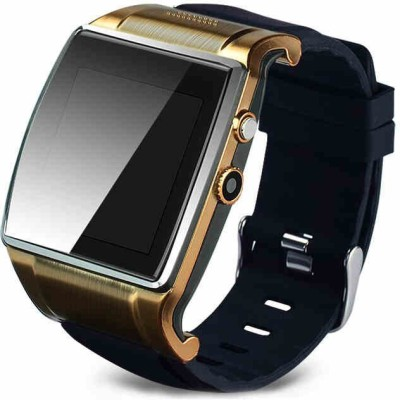 Qtec Qtec Smart Watch SW1S Smartwatch (Black, Gold Strap)