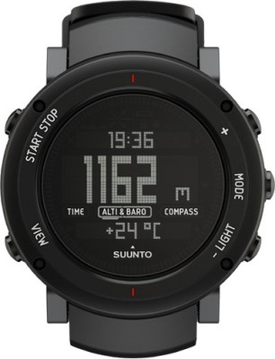 Suunto SS018734000 Core Digital Alu Deep Black Smartwatch (Black Strap)