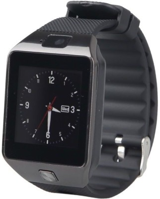 VibeX ™ Mobile Bluetooth SIM Slot GSM and DVR Camera Black Smartwatch (Black Strap Free Size)