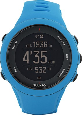 Suunto SS020679000 Ambit3 Sport HR Digital Smartwatch (Blue Strap)