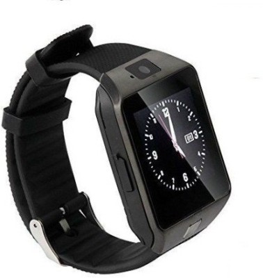 being trendy WS01 with SIM and 32 GB Memory Card Slot and Fitness Tracker Stainless Steel Smartwatch (Black Strap)