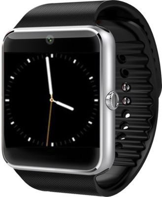 Bingo T50 Silver Mobile Single Sim Slot Smartwatch (Black Strap)