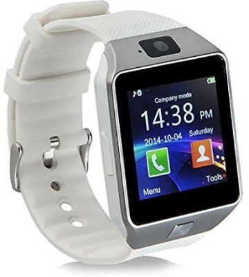 stk T30 Gold Bluetooth Notification Smartwatch (White Strap)