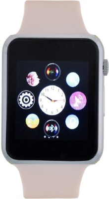 Frenzy With Sim, Memorycard slot, Bluetooth and Fitness tracker White Smartwatch (White Strap)