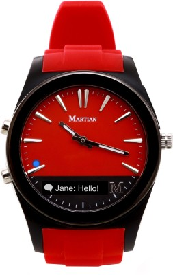 Martian MN200RBR Notifier Analog Watch Smartwatch (Red Strap)