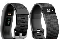 CASE Fitness Band HEART RATE MONITOR BLUETOOTH CALL NOTIFICATION 3D Pedometer Calorie Monitor Band Tracker Black Smartwatch (Black Strap)