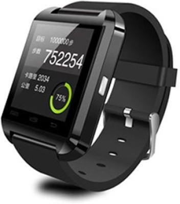 Digiplus U8 Black Smartwatch (Black Strap 2)