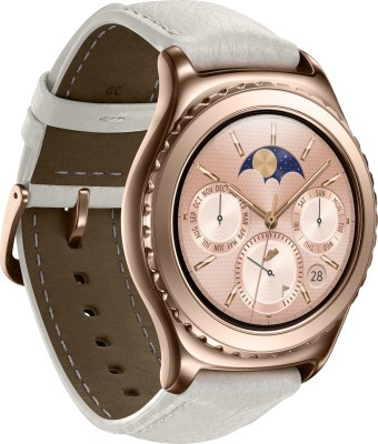 SAMSUNG Gear S2 Classic Rose Gold Smartwatch (White Strap)