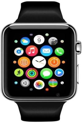 crushacc apple smart watch silver,black Smartwatch (Black Strap)