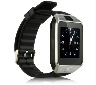 Influx ® DZ09 SIM-TF Card Support Camera Silver Smartwatch (Black Strap Free)