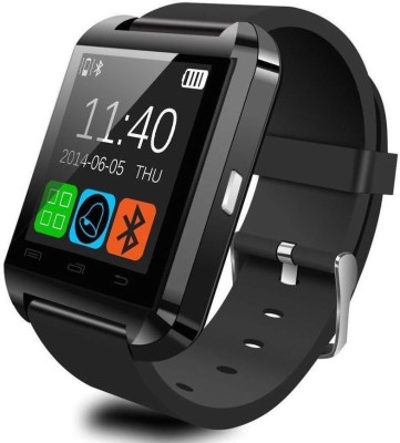 Medulla U8 for Android phone Bluetooth Smartwatch (Black Strap)