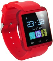 WDS Smart U8 R Compatible With I Phone And All Android Devices Bluetooth Red Smartwatch (Multicolor Strap)