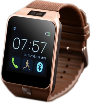 ELEGANZ EC11 with SIM and 32 GB Memory Card Slot and Fitness Tracker Smartwatch (Brown Strap)