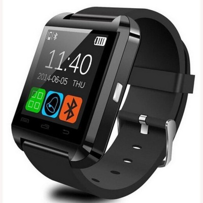 WDS Smart U8 B Compatible Black Smartwatch (Multicolor Strap)