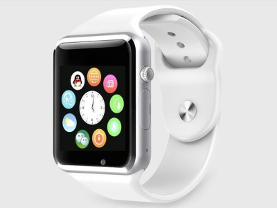 Outsmart with SIM card, 32GB memory card slot, Bluetooth and Fitness Tracker Smartwatch (White Strap)