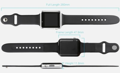 Celestech AP02 Smartwatch with SIM card slot, 32Gb Memory card slot and Fitness Tracker Apple White Smartwatch (White Strap)