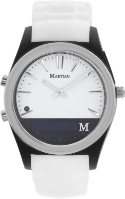 Martian MN200WBW Notifier Analog Watch Smartwatch (White Strap)