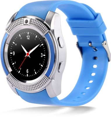 Bingo C6 Blue With Heart Rate Monitoring, Bluetooth And Sim Enabling Feature Smartwatch (Blue Strap)