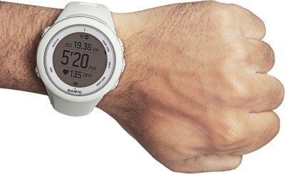 Suunto SS020680000 Ambit3 Sport HR Digital Smartwatch (White Strap)